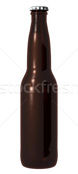 Stock photo: Brown Beer Bottle