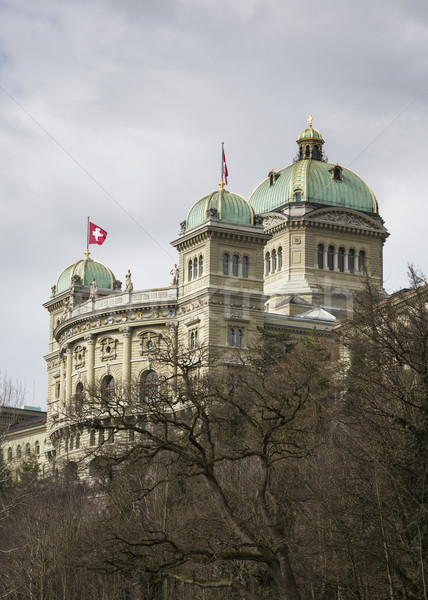 Hükümet Bina federal saray İsviçre bir Stok fotoğraf © mdfiles