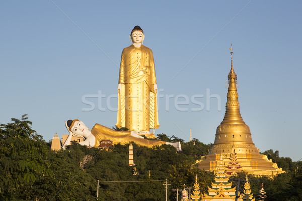 Második szobor világ falu Myanmar Délkelet-Ázsia Stock fotó © mdfiles
