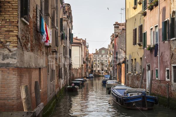 Velence csendes csatorna hajók Olaszország déli Stock fotó © mdfiles