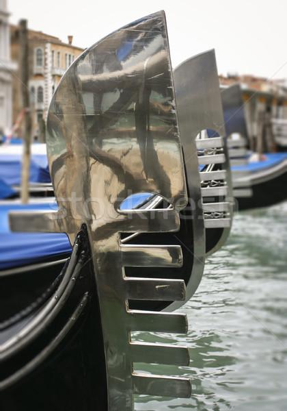 Venedik gondol seçici odak Venedik İtalya Avrupa Stok fotoğraf © mdfiles