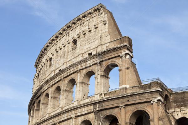 Colosseum centrum Róma Olaszország déli Európa Stock fotó © mdfiles