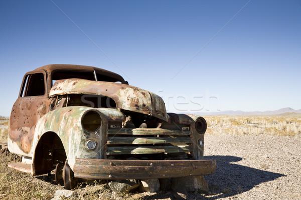 Carro destruir deserto Namíbia África ferro Foto stock © mdfiles