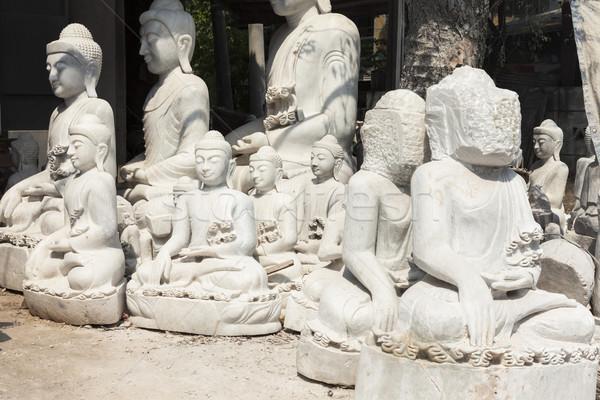 Buda Mianmar sudeste da Ásia arte branco Foto stock © mdfiles