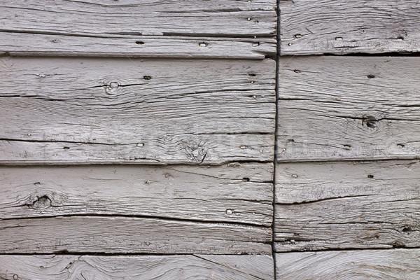 Ahşap doku eski ahşap ahır İtalya doku Stok fotoğraf © mdfiles