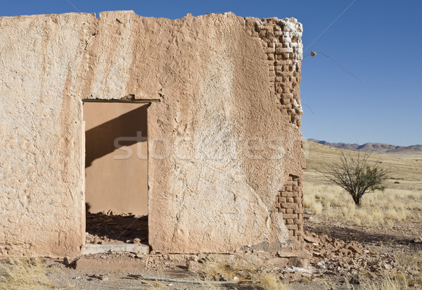 Düşler harabe Namibya güney Afrika Bina Stok fotoğraf © mdfiles
