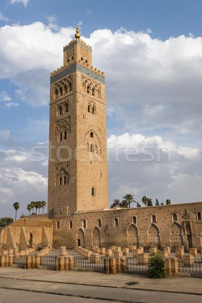 Mesquita minarete torre edifício África arquitetura Foto stock © mdfiles
