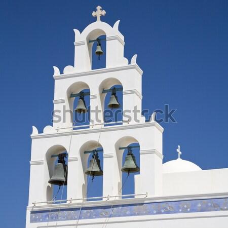 çan kule kilise ada santorini adası Yunanistan Stok fotoğraf © mdfiles