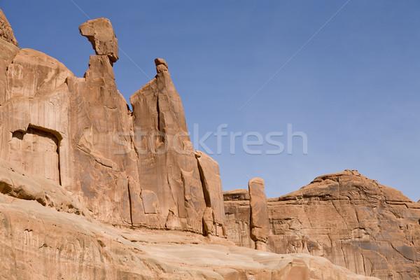 砂岩 岩石層 公園 ユタ州 米国 ストックフォト © mdfiles