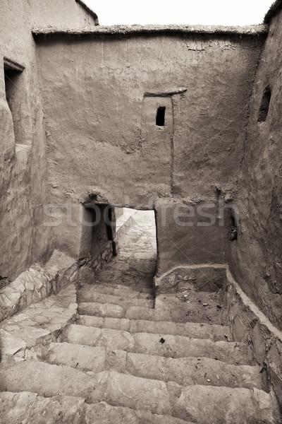 Içinde Fas kuzey Afrika Bina mimari Stok fotoğraf © mdfiles