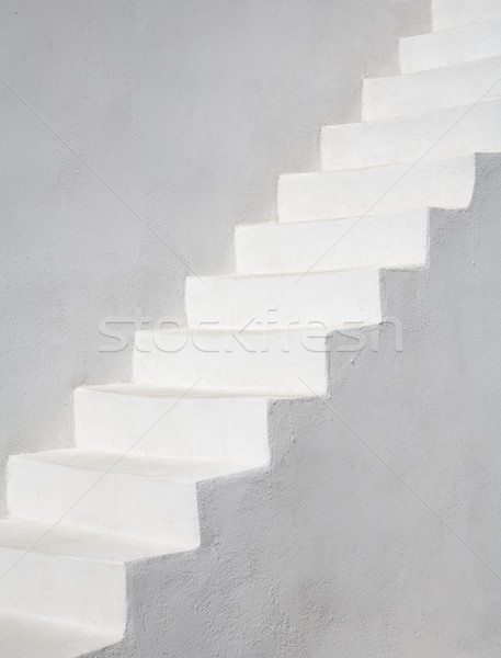 Sadece beyaz merdiven santorini adası Yunanistan Avrupa Stok fotoğraf © mdfiles
