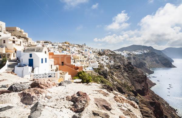 Santorini adası görmek güney su Bina doğa Stok fotoğraf © mdfiles