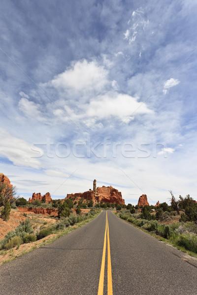 út park Utah USA kő kő Stock fotó © mdfiles