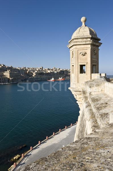 Város kikötő Málta Európa víz épület Stock fotó © mdfiles