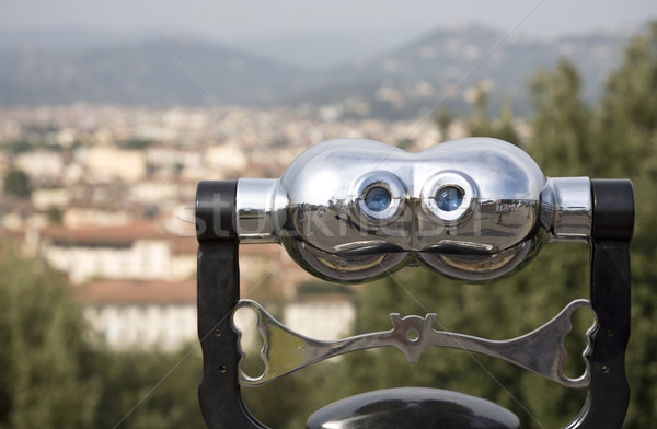 Olhos azuis italiano beleza binóculo ver florence Foto stock © mdfiles