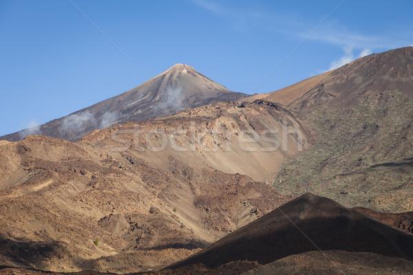 Vulkán Tenerife Kanári-szigetek Spanyolország hegy szabadtér Stock fotó © mdfiles