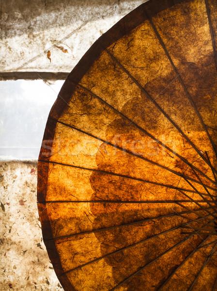 Paraplu mooie textuur Myanmar birma Stockfoto © mdfiles