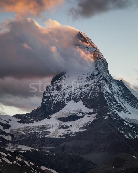雲 夕暮れ アルプス山脈 スイス ヨーロッパ 風景 ストックフォト © mdfiles