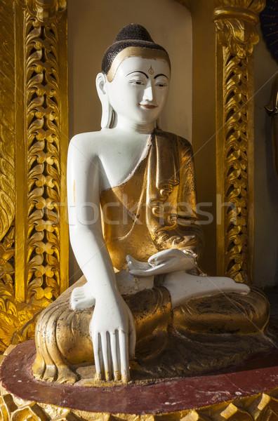Gülen Buda ünlü pagoda birmanya Myanmar Stok fotoğraf © mdfiles