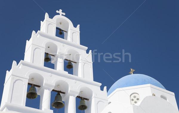 白 教会 サントリーニ ギリシャ 空 建物 ストックフォト © mdfiles