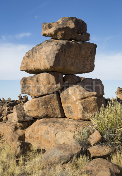 Dengelemek garip kaya Namibya güney Afrika Stok fotoğraf © mdfiles