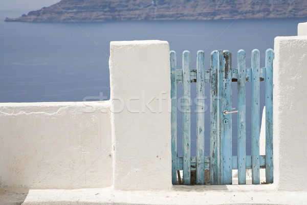 青 ゲート 島 サントリーニ 火山 ストックフォト © mdfiles