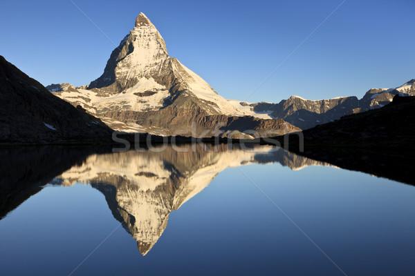 Primeiro luz um belo ícones Suíça Foto stock © mdfiles