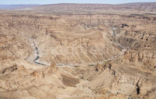 Hal folyó kanyon dél Namíbia legnagyobb Stock fotó © mdfiles