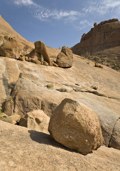 Kaya oluşumu çöl Namibya güney Afrika kaya Stok fotoğraf © mdfiles