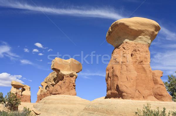 Bahçe Utah ABD doğa taş bulut Stok fotoğraf © mdfiles
