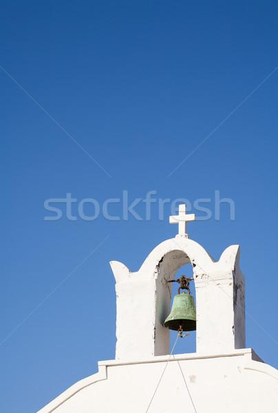 çan kule kilise ada santorini adası bo Stok fotoğraf © mdfiles