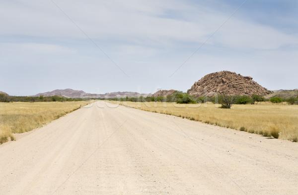 Yol Namibya güney Afrika kaya taş Stok fotoğraf © mdfiles
