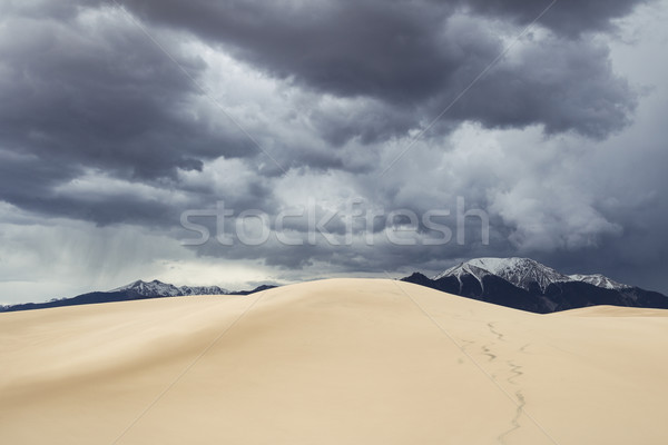 Vihar nagyszerű homok park Colorado USA Stock fotó © mdfiles