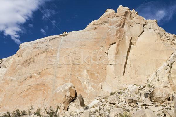 Szirt kék ég Utah Egyesült Államok Amerika természet Stock fotó © mdfiles