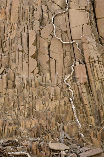 Bazalt vulkáni kövek régió Namíbia déli Stock fotó © mdfiles