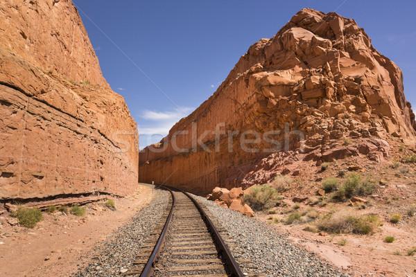 Demiryolu izlemek Amerika Birleşik Devletleri Utah ABD kaya Stok fotoğraf © mdfiles