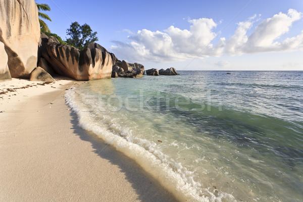 álom tengerpart sziget LA Seychelle-szigetek indiai Stock fotó © mdfiles