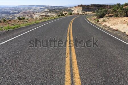 Yol Utah ABD karayolu sarı asfalt Stok fotoğraf © mdfiles