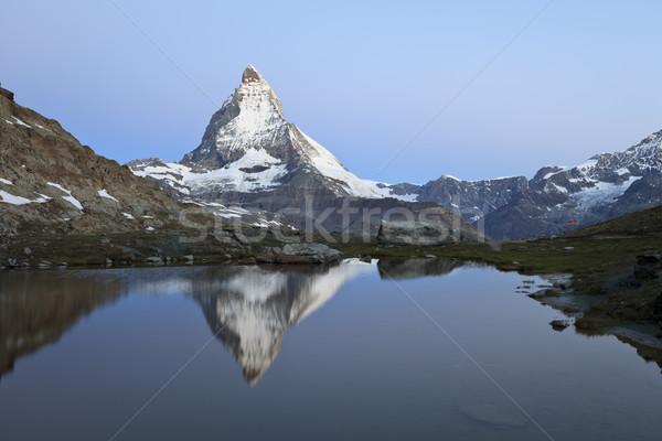 Yansıma alpler İsviçre Avrupa dağ göl Stok fotoğraf © mdfiles