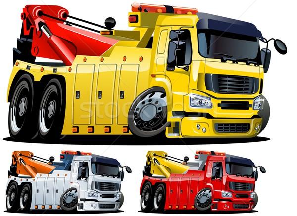 Vector cartoon tow truck. One-click repaint Stock photo © mechanik