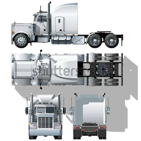 Vector concrete mixer truck Stock photo © mechanik