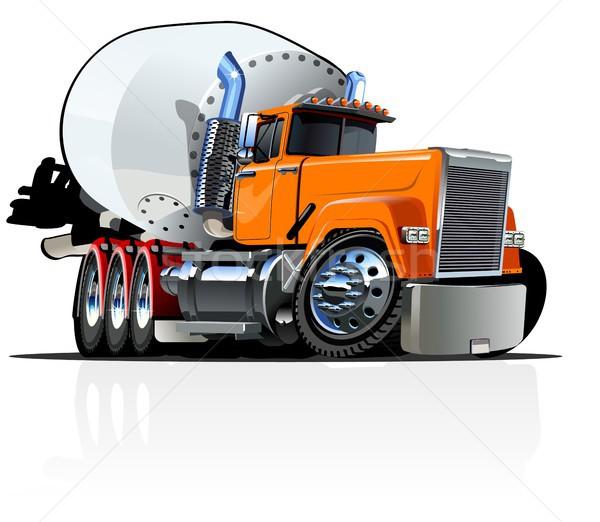 Rajz keverő teherautó vektor eps10 formátum Stock fotó © mechanik