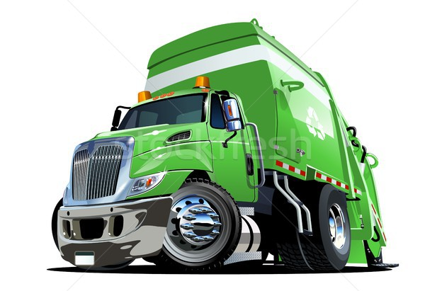 Cartoon Garbage Truck Stock photo © mechanik
