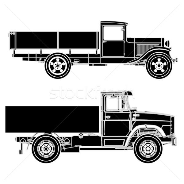 Vector detailed trucks Stock photo © mechanik