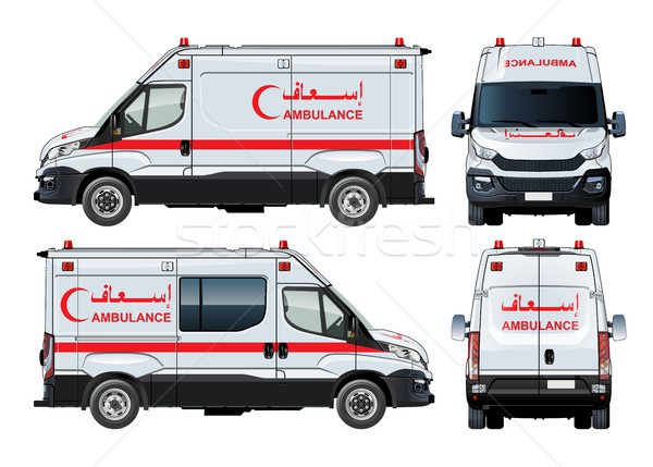 Vector Ambulance Van Stock photo © mechanik