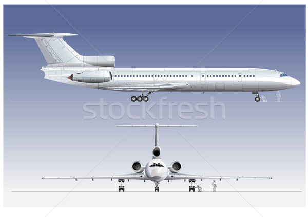 Hi-detailed passenger airliner Stock photo © mechanik
