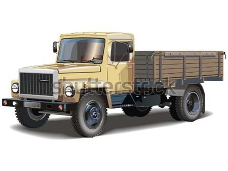 ストックフォト: ベクトル · トラック · eps8 · 車 · 金属