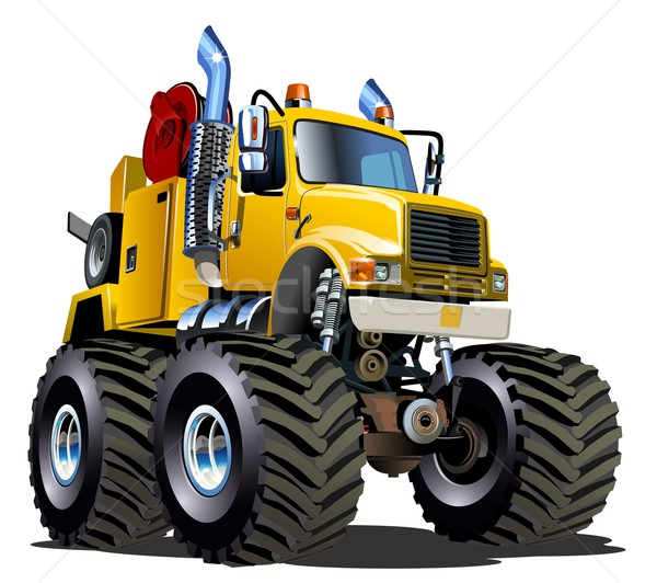 Cartoon Monster Tow Truck Stock photo © mechanik