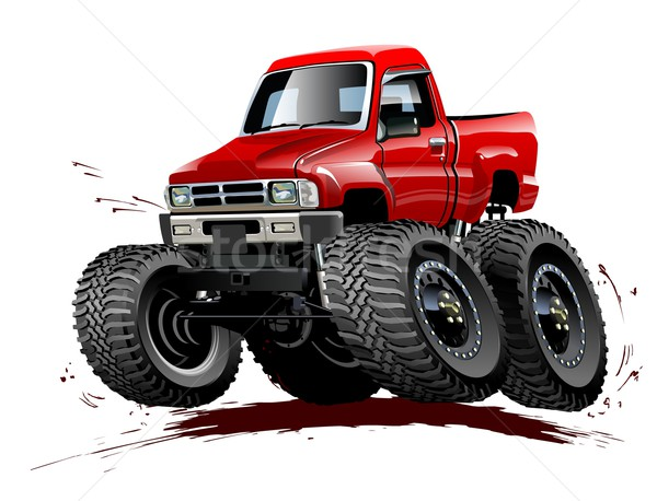 Cartoon Monster Truck one-click repaint Stock photo © mechanik