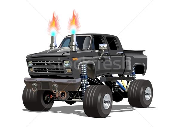 Cartoon mostro camion eps10 gruppi Foto d'archivio © mechanik